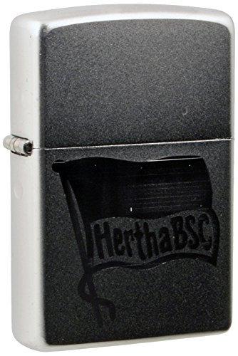 Zippo 27.2807 Cigarette Lighter Hertha BSC Berlin Engraving Chrome Satin