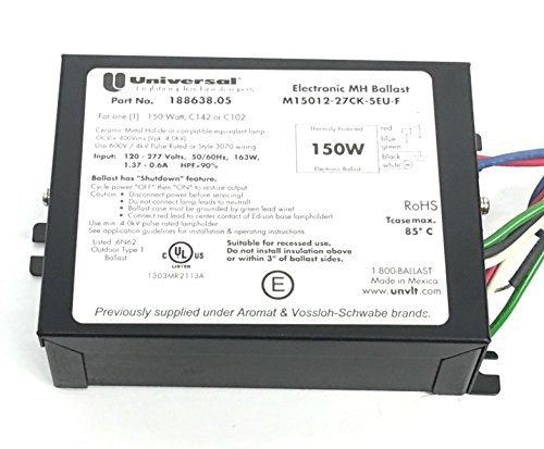 - Universal Lighting M15012-27CK-5EU-F 188638.05 150 Watt MH Ballast 120/277V
