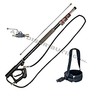 18' Telescoping Wand for Pressure Washers, includes Belt and Ball Valve
