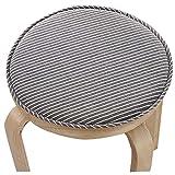Round Stool Cushion Warm Sponge Pad Bar Stool Mat Brown Stripe