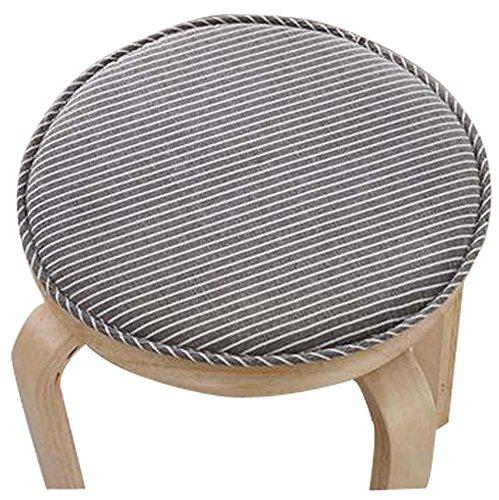 Round Stool Cushion Warm Sponge Pad Bar Stool Mat Brown Stripe by Black Temptation