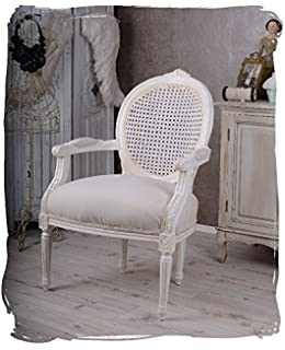 Shabby Chic Used Look Sessel Ohrensessel 64 X 73 X 102 Cm