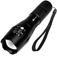 Juzihao Super Bright 4000 Lumens Mini CREE LED Zoomable Flashlight Torch Tactical Lamp, 5 Modes, Waterproof, for Hiking, Biking, Camping and other Outdoor Sports