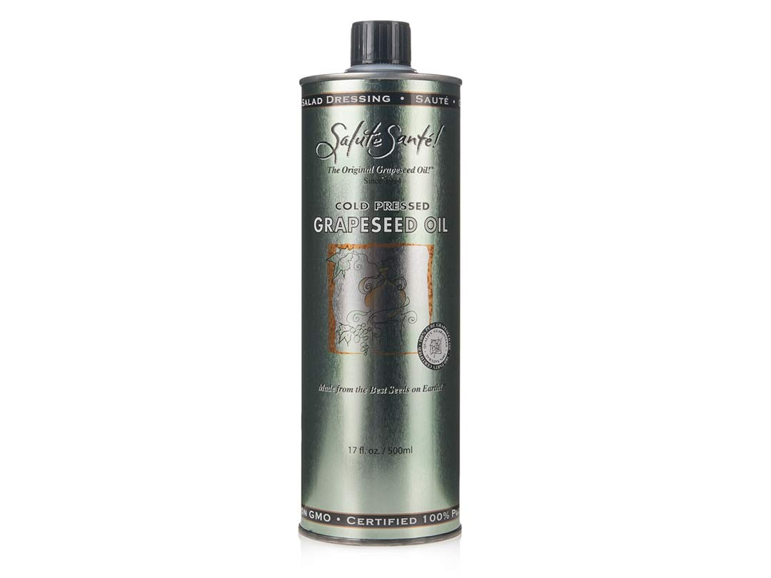 Salute Sante Grapeseed Oil in Steel Can (17oz Pack of 6) by Salute Santé