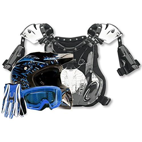 Adult Goggles Gloves Motocross Black Red Sale Combo ATV Off Road UTV Small XXL