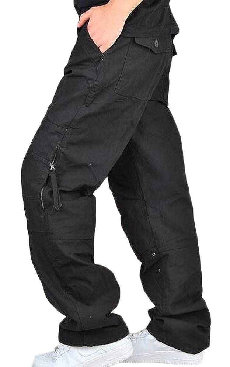 CBTLVSN Mens Loose Fit Military Army Cargo Plain Combat Work Pants