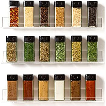 Amazon Com The Invisible Acrylic Spice Rack Organizer