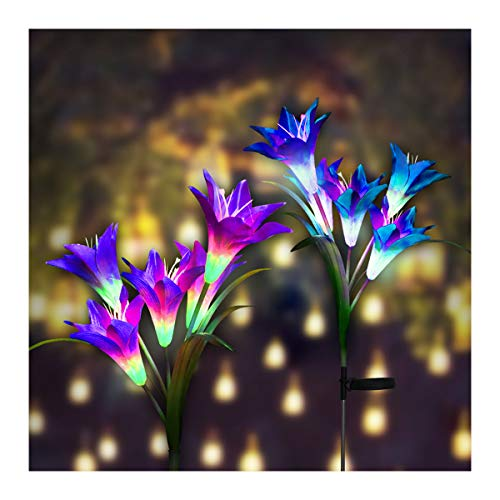 Purple Solar Garden Lights in US - 4
