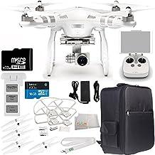 DJI Phantom 3 Advanced Quadcopter Drone w/ 1080p HD Video Camera & Manufacturer Accessories + DJI Propeller Set + Water-Resistant Backpack + 32GB microSD Memory Card + MORE