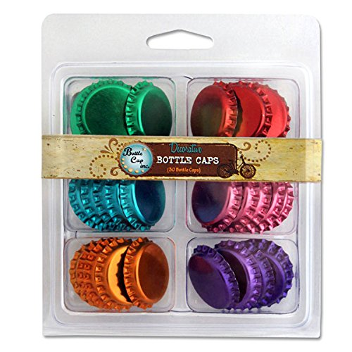 Vintage Collection Double Sided Bottle Caps Multi-Pack 30/Pk-Metallic