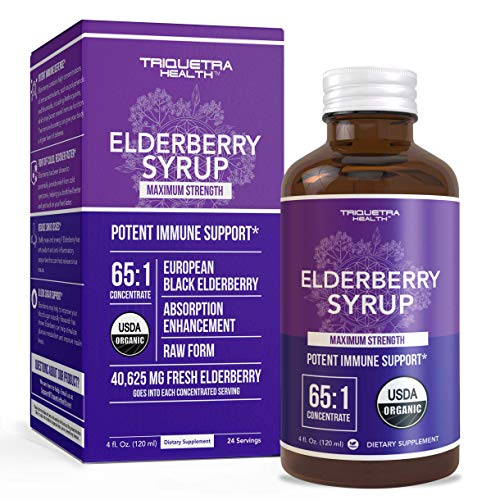 Black Elderberry Extract, Syrup, or Capsules