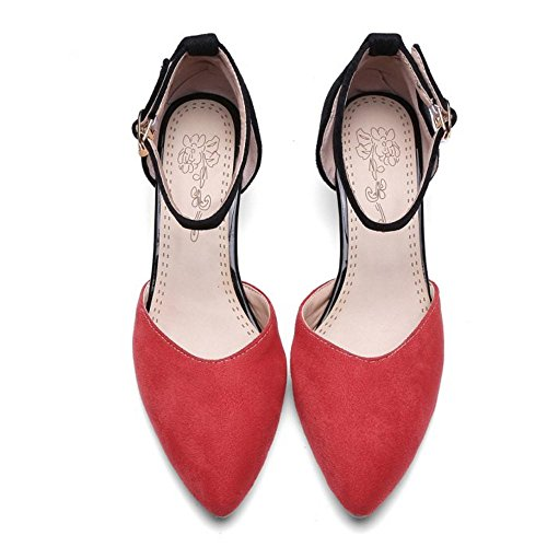 Coolcept Mujer Kitten Heel Bombas Zapatos Red