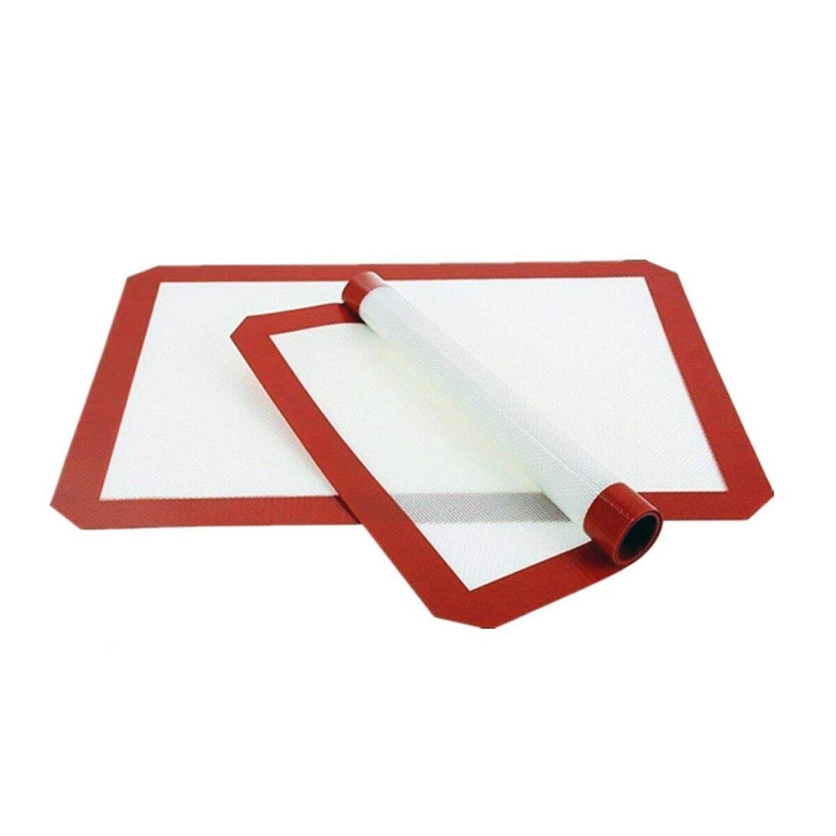 2X Non-Stick Silicone Baking Mat - Cook without Oil or Butter - Professional Quality Reusable Silicone Sheet 38cm x 28cm Sweedon Sw004