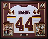 John Riggins Autographed White Redskins Jersey - Beautifully Matted and Framed - Hand Signed By John Riggins and Certified Authentic by Beckett Authentics - Includes Certificate of Authenticity