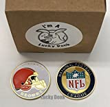 American Football Team Challenge Coin Cleveland Browns Poker Card Marker Collectible plus display case, stand, and Free Sticker by Lucky Donk