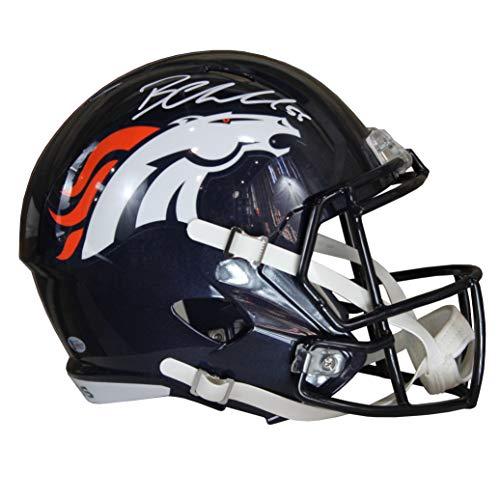(Bradley Chubb Autographed Denver Broncos Blue Riddell Speed Replica Full Size Helmet w/Beckett)