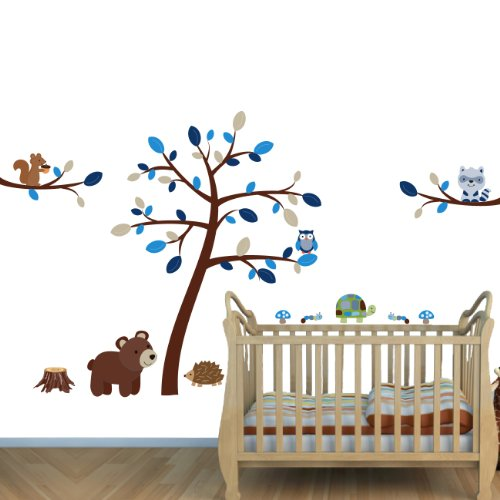 blue and brown wall decals - 7