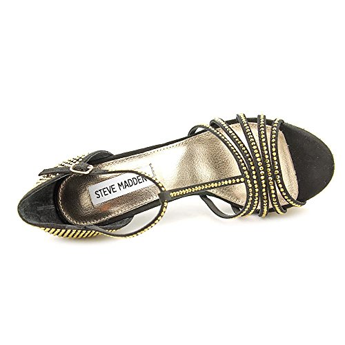 Steve Madden Avory Donna US 6 Nero Sandalo con la Zeppa