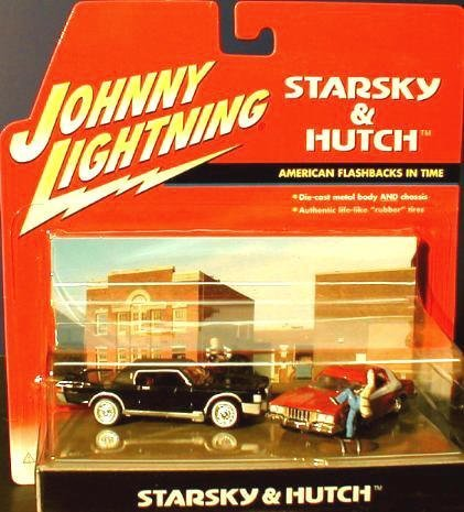 Johnny Lightning Starsky & Hutch American Flashbacks In Time 1:64 Scale Diorama. Die-Cast Metal Body and Chassis. Authentic...