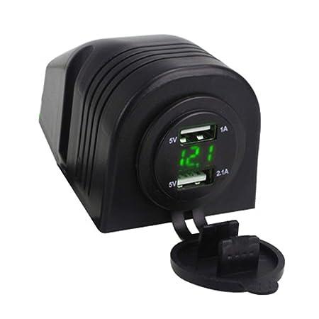 Jinxuny Cargador de Coche, Mini Adaptador de Coche Dual-USB ...