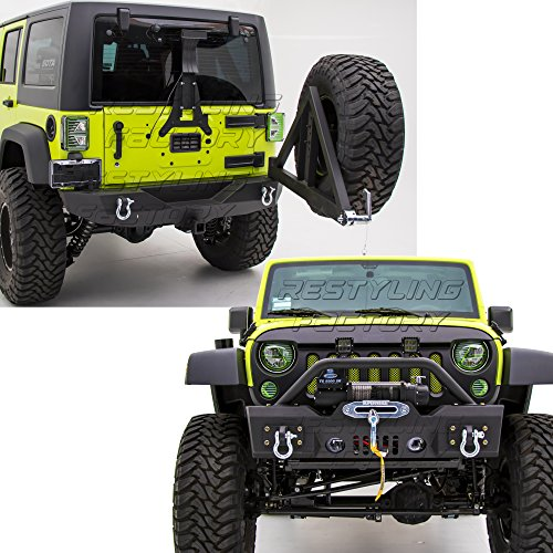 Restyling Factory 07-16 Jeep Wrangler Rock Crawler Stubby Front Bumper