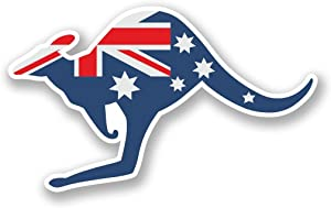 2 x 10cm- 100mm Australia Kangaroo Vinyl SELF ADHESIVE STICKER Decal Laptop Travel Luggage Car iPad Sign Fun #5812