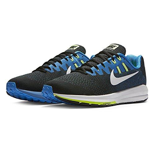 Nike Mens Luft Zoomkonstruktion 20 Löparsko Svart / Vit-bild Blå