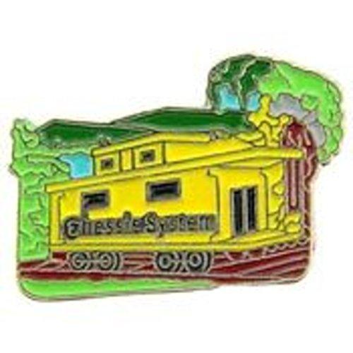 EagleEmblems P02207 Pin-RR,Chessie Caboose (1'')