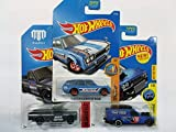 datsun wagon hot wheel - 3 (THREE) Hot Wheels: 2017 Surf's Up '71 Datsun Bluebird 510 Wagon 277/365, Blue , 2017 HW Daredevils Mad Mike Mazda Repu 286/365, Dark Gray & HOT WHEELS CITY WORKS 1/10, BLUE TIME SHIFTER 312/365