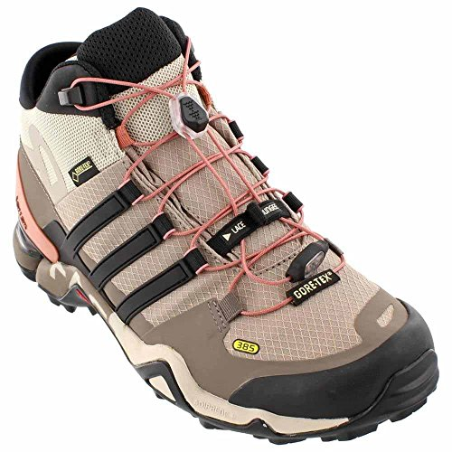 adidas Outdoor Women's Terrex Fast R Mid GTX? Vapour Grey/Black/Tech Earth Sneaker 8 B (M) by adidas
