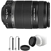 Canon EF-S 55-250mm f/4-5.6 IS II Lens for EOS 7D Mark II, 7D, 80D, 70D, 60D, 50D, 40D, 30D, 20D, Rebel T6s, T6i, T5i, T4i, SL1, T3i, T6, T5, T3, T2i, T1i, XSi, XS, XTi, XT with Ultimate Accessory Kit