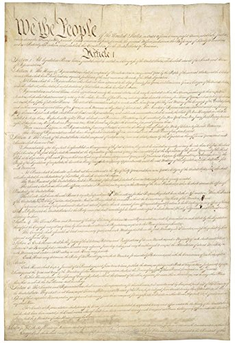 U S  Constitution  First Page  Art Poster Print  13 X 19In