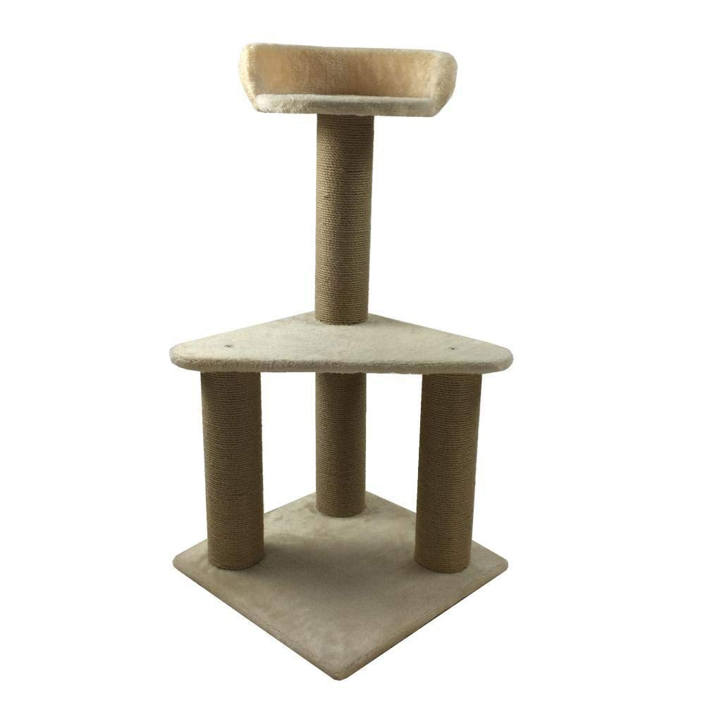 TOUYOUIOPNG Deluxe Multi Level Cat Tree cat trees towers Pet Scratch Cat Toy Furniture Grab Board platform 39  39  82cm Plate rope Flannel