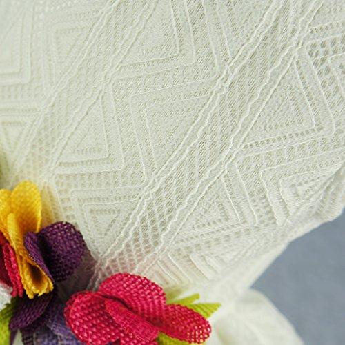 Fitwarm Elegant Floral Dog Sundress Pet Wedding Dress Vest Shirts Cat Clothes, White, XS by Fitwarm (Image #3)