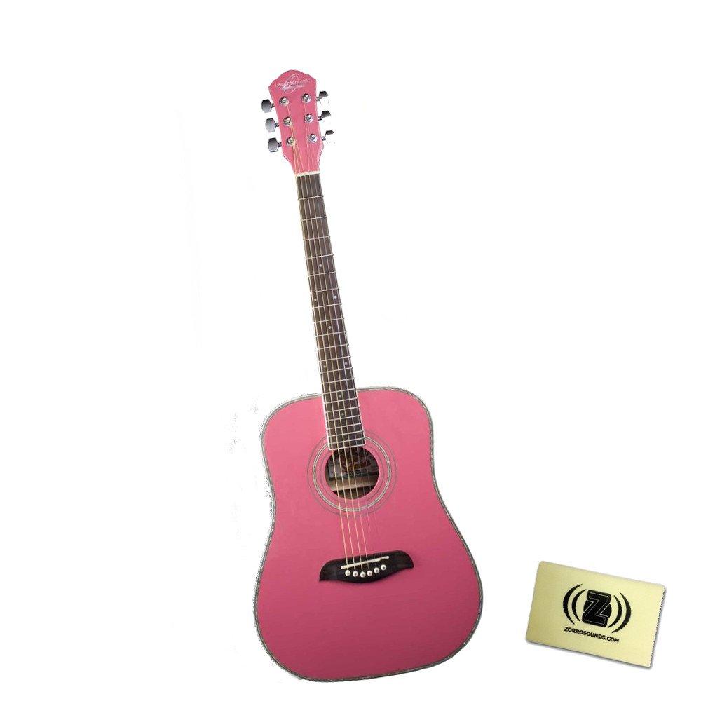 Oscar Schmidt オスカーシュミット OG1P 3/4 Size アコースティックギター Bundle with Polishing ClothPink アコースティックギター アコギ ギター (並行輸入) B00W5RAVVY