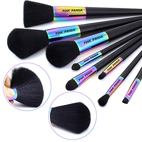 "PINKPANDA Professional Makeup Brush Set 8 Pcs""Fantasy Secret"" Color Makeup Brushes Make Up Kit Premium Synthetic Cosmetic Foundation Blending Blush Concealers Eye Shadows Face Powder Brush Kabuki"