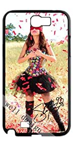 Selena Gomez Signed HD image case for Samsung Galaxy Note 2 N7100 black + Card Sticker