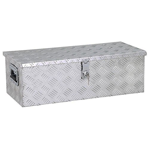 go2buy Aluminum Tool Box Storage for Truck Pickup Bed Trailer with Lock,30 x 13 x 10'' (LxWxH)