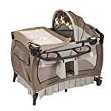 Baby Cot Change Table Set Baby Trend Deluxe Nursery Center, Haven Wood