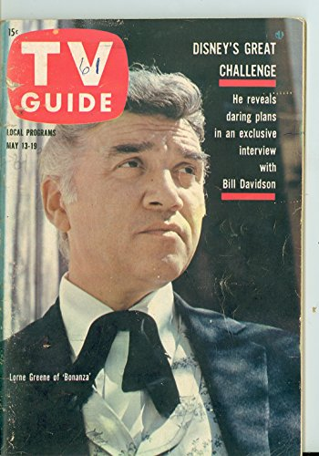 1961 TV Guide May 13 Lorne Greene of Bonanza - Dakotas Edition NO MAILING LABEL Very Good to Excellent (4 out of 10) Used Cond. by Mickeys (Greenes Guides)