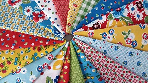 Sugar Sack Whistler Studios 30s Reproduction Fabric ~ Cotton Quilting Fabrics ~ 18 Fat Quarters Bundle - 4.5 Yards