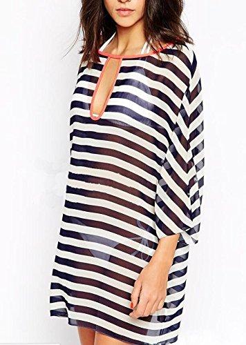 En la playa de playa en traje de baño bikini favorito abrigo blusa blusa de gasa con ropa de protección de vacaciones de playa de ropa femenina: Amazon.es: ...