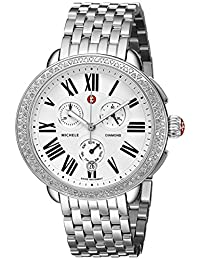 Michele Serein Silver Dial Chronograph Stainless Steel Ladies Watch MWW21A000001
