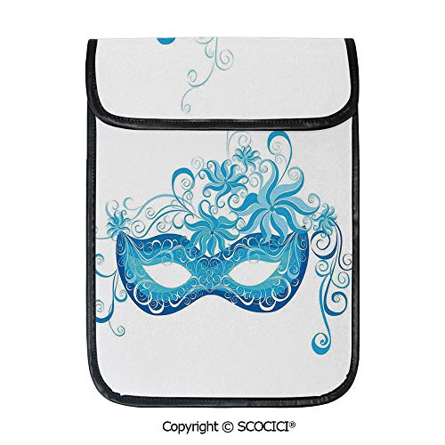SCOCICI Shockproof Tablet Sleeve Compatible 12.9 Inch iPad Pro Venetian Style Mask Majestic Impersonating Enjoying Halloween Night Theme Tablet Protective Bag -