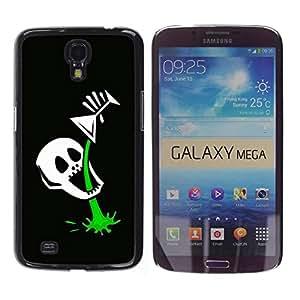 Be Good Phone Accessory // Dura Cáscara cubierta Protectora Caso Carcasa Funda de Protección para Samsung Galaxy Mega 6.3 I9200 SGH-i527 // Funny Skull Skeleton Martini