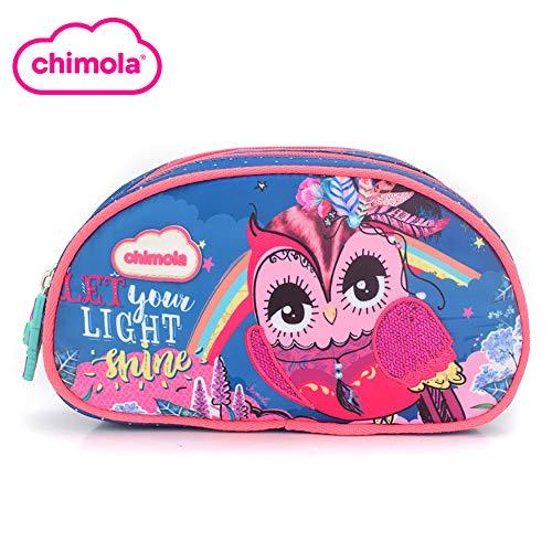 (Chimola Printed Pencil Case for Kids Primary Junior High School (Owl, 1)