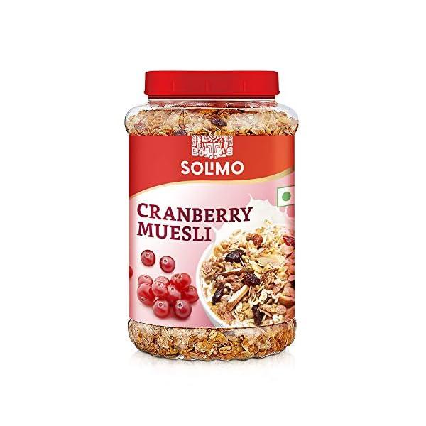 Amazon brand - Solimo Cranberry Muesli, 1kg 1 51ts7sM 2aL