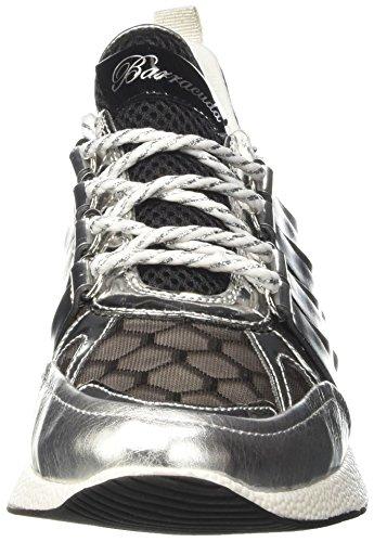 Barracuda Bd0694, Sneaker a Collo Basso Donna Multicolore (Nero/Argento)