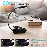 YTE Book Light Rechargeable Reading Light with 6