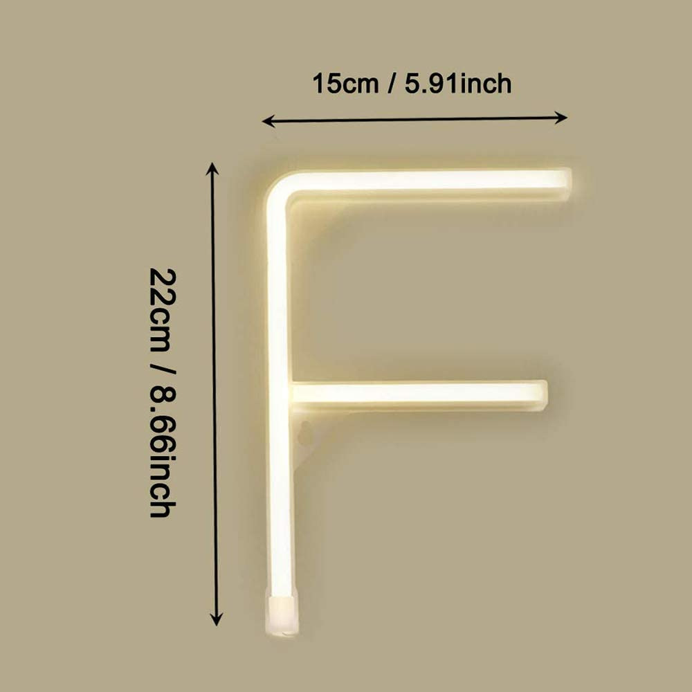 Neon Letter Lights Sign LED Warm White Alphabet Word Marquee Wall Lamps Battery//USB Operated Mood Neon Lighting Bar Wedding Party Cafe Bedroom Nursery Decor Christmas Birthday O